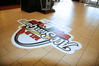 Custom Die Cut Floor Graphics