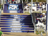 Concrete Stair Graphics and Decals - Printed by Zane Williams