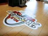 Custom Die Cut Floor Graphics for All Stars Game - Printed by Zane Williams