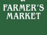 Forest Green Farmer's Market Light Pole Banner With White Ink