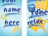 Shop Dine Relax Double Design Light Pole Banner