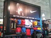 Backlit Sign - Nike Display in Retail Store