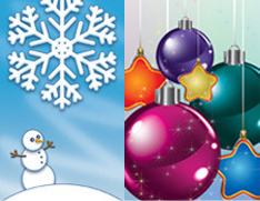 Winter & Holiday Light Pole Banners